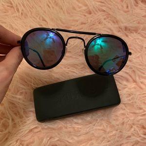 Spitfire Technotronic Green Black Mirror Sunglass